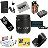 Sigma Super Zoom 18-250mm f/3.5-6.3 DC Macro OS HSM (Optical Stabilizer) 883-101 Lens With 3 Year Extended Lens Warranty