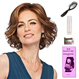 High Impact by Gabor, Wig Galaxy Hair Loss Booklet, 2oz Travel Size Wig Shampoo, Wig Cap, & Loop Brush (Bundle - 5 Items), Color Chosen: GL14-16SS Honey Toast