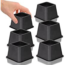 DuraCasa Bed Risers, Raises Your Bed or Furniture To Create an Additional 3 Inches of Storage! Reinforced New Heavy-Duty Design To Hold Over 2000 LBS! Desk, Sofa, and Chair Lift (Set of 6 Risers)