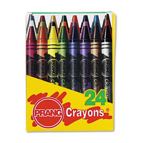 Prang 00400 Crayons Made with Soy, 24 Colors/Box