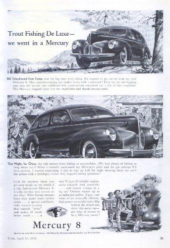 30837d95dfb Trout Fishing de Luxe Mercury ad 1940