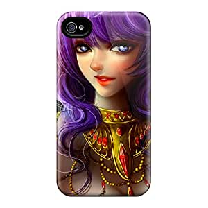 New Premium Slp658ZDoG Cases Covers For Iphone 6/ Purple Hair Beauty Protective Cases Covers