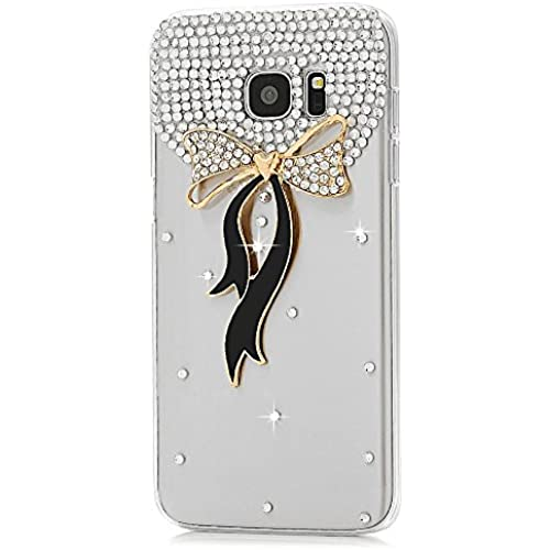 Samsung Galaxy S7 Active Case, STENES [Luxurious Series] 3D Handmade Shiny Crystal Bling Case with Retro Bowknot Anti Dust Plug - Bowknot / Black Sales