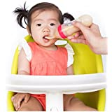 Nuby Garden Fresh Silicone Squeeze Feeder with Spoon and Hygienic Cover, Colors May Vary