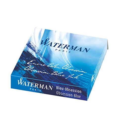 Waterman Blue Obsession Limited Edition Ink Cartridges - Serenity Blue (Pack of 6)