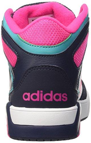 adidas Bb9tis Mid K, Zapatillas de Deporte Exterior Unisex Bebé, Multicolor Azul Marino / Blanco / Turquesa (Maruni / Ftwbla / Verimp)