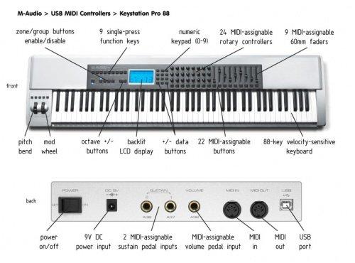 amazon com m audio keystation pro 88 keyboard controller musical rh amazon com m-audio keystation 88es manuel m-audio keystation pro 88 user manual