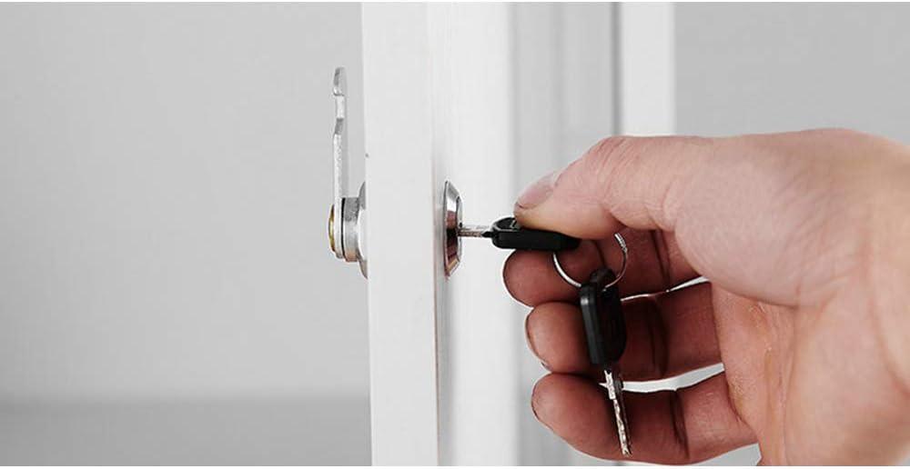 SPTwj - Cerradura de seguridad para buzón (4 unidades, 20mm de longitud, aleación de zinc, cierre de cajón, color plateado Cada candado tiene una llave diferente): Amazon.es: Bricolaje y herramientas