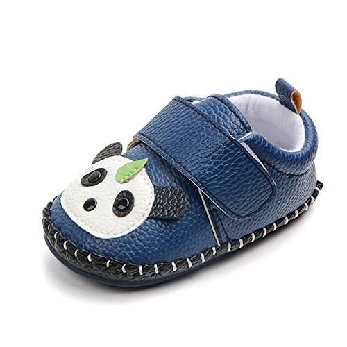 Lidiano Baby Non Slip Rubber Sole Cartoon Walking Slippers Crib Shoes Infant/Toddler (0-6 Months, Blue Panda) Review