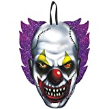 """Creepy Carnival Clown Sign Halloween Trick or Treat Party Decoration, Fiberboard, 11"""" x 9"""""""