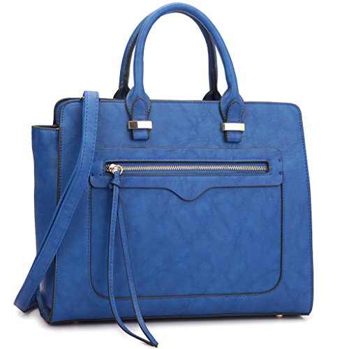 dasein-mini-vegan-leather-front-pocket-designer-satchel-handbag-with-crossbody-strap-xl6352-xl6352-b