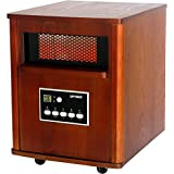 Optimus H-8121 Infrared Quartz Heater with Remote and LED Display
