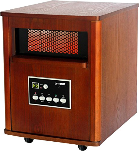 Optimus Infrared Quartz Portable Heater Wood H-8121