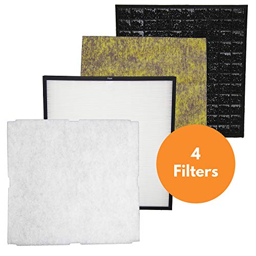 Replacement for Rabbit Air MinusA2 Filter Replacement Kit (4 Filters) (Best Air Filter For Cigar Smoke)
