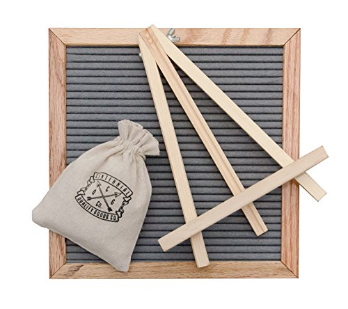 "Centennial Quality Goods Changeable Felt Letter Board (10"" x 10"") Natural Wooden Oak Frame 