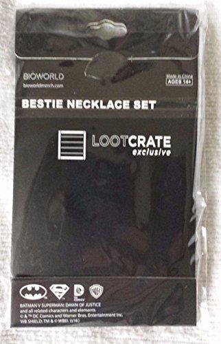 Bioworld Batman V. SupermanBestie Necklace Set (LootCrate LvlUp Exclusive March 2016) at Gotham City Store