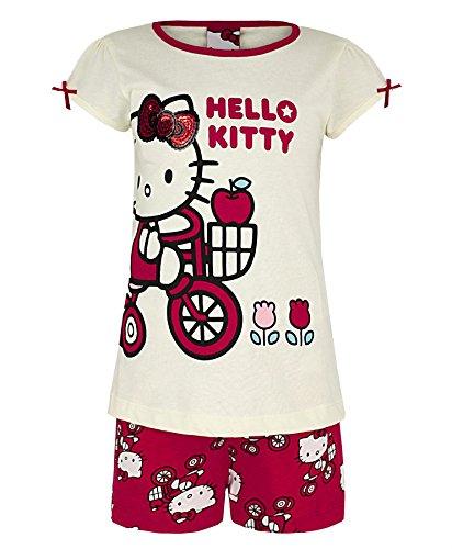 Girls Hello Kitty Pyjama Style 1027B 2 Piece Set 5-6 Years