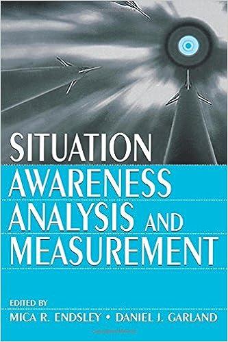 Situation Awareness Analysis And Measurement Mica R Endsley