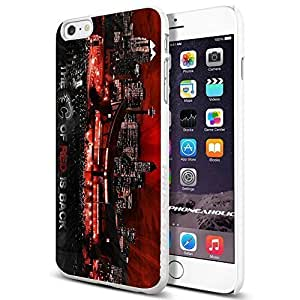 Hockey NHL C of RED is back, Calgary Flames, , Cool iphone 5c (+ , Inch) Smartphone Case Cover Collector iphone TPU Rubber Case White [By PhoneAholic]