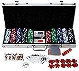 500 Piece 11.5 Gram Poker Chip Set with Aluminum Case