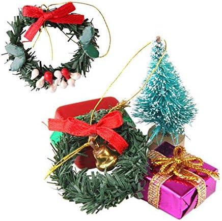 Modelo Árbol Navideño + Mini Corona de Navidad Caja de Regalos para Muñecas 1/12: Amazon.es: Hogar
