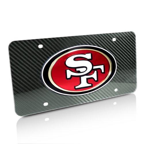 NFL San Francisco 49ers Carbon Fiber Look License Plate