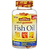 gummy fish omega 3 - Nature Made Fish Oil Adult Gummies (57 mg of Omega-3s EPA & DHA per serving) 90 Ct