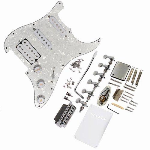 Complete Loaded Pickguard Set w/ SSD Pickups Tuners Bridge Bar Jack/Plate for Fender Strat Style Guitar
