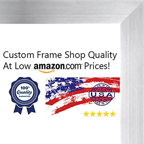 11x14 Contemporary Pewter Wood Picture Frame - UV Acrylic, Foam Board Backing, & Hanging Hardware Included!
