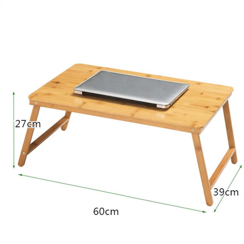 boisCouleur 604030cm KSUNGB Table Pliante Lit portable Multifonction Bambou Paresseux Bureau d'ordinateur, Bureau d'apprentissage Table à Manger,rose,60  40  30cm