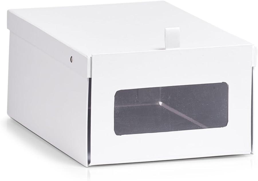 Zeller Zapatos Caja de Caja, cartón, Papel, weiß, 23 x 35 x 14 cm ...