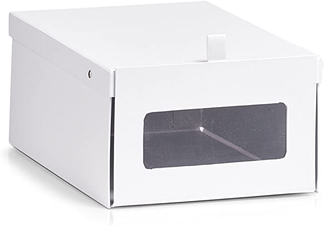 Zeller Zapatos Caja de Caja, cartón, Papel, weiß, 23 x 35 x 14 cm: Amazon.es: Hogar