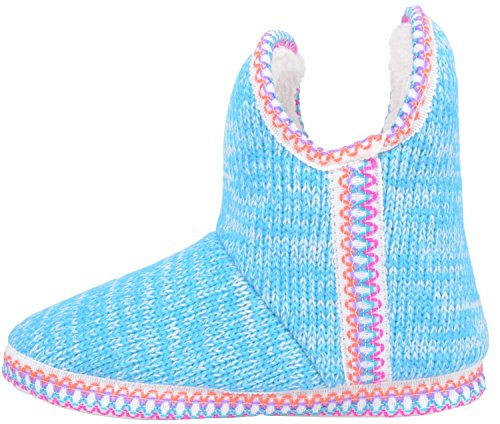 Womens Slip On Slippers / Boots / Indoor Shoes with Warm Faux Fur Inners Blue 34t0nZ30