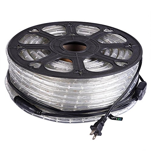 DELight 150 FT RGBY 2 Wire LED Rope Light Indoor Outdoor Home Holiday Valentines Party Disco Restaurant Cafe Decor by DELight