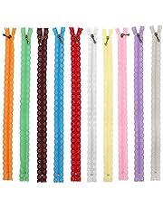 10st kant rits, volledige lengte 35cm diy nylon spoel bloem rits kant ritsen naaien accessoires kleding voor diy naaien op maat ambachtelijke bed tas