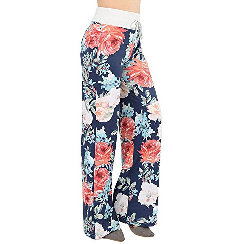 Yoga Pyjama Sportswear Pants Minma Women's Rose Printing With Four Colors and Plus Size Wide Legged (S, Darkgrey) (Stores That Sell Pajamas)
