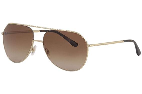 ca0e6c1a69b Amazon.com  Dolce   Gabbana Women s Ortensia Aviator Sunglasses ...