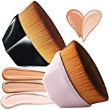2 PACK Foundation Makeup Brush Flat Top, HOME-MART Petal-shaped flawless Foundation Brush, Make Up Brush With Storage…