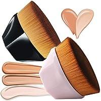 2 PACK Foundation Brush Flat Top, HOME-MART Petal-shaped flawless Foundation Brush, Make Up Brush With Storage Box…