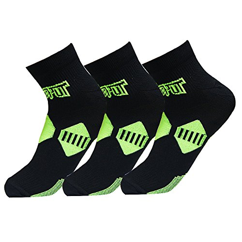 Plantar Fasciitis Socks with Arch & Ankle Support,(3 Pairs) Best Foot Care Compression Sock Brace Support, Eases Swelling & Heel Spurs, Relieve Pain Fast Increases Circulation (L/XL, Black)