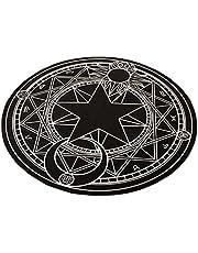 The Magic Circle Pattern Round Carpet Floor Mats Yoga Cushion for Playroom/Cloakroom