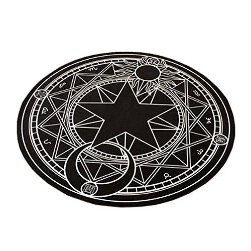 FANCY PUMPKIN The Magic Circle Pattern Round Carpet Floor Mats Yoga Cushion for Playroom/Cloakroom, 01