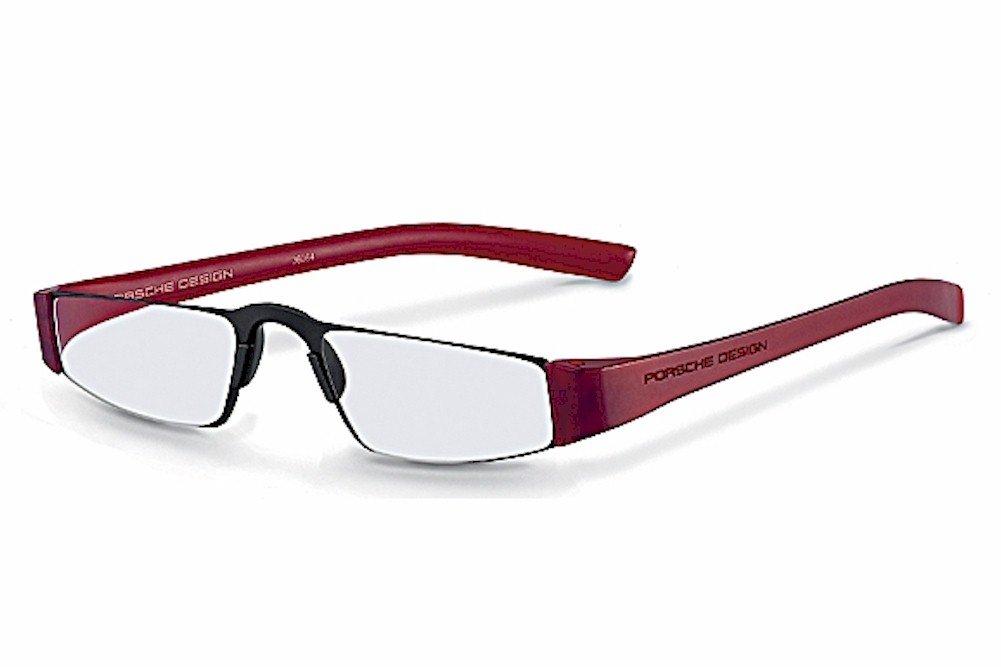 Porsche Design Men's Eyeglasses P'8801 P8801 B Red Reading Glasses 48MM +1.00