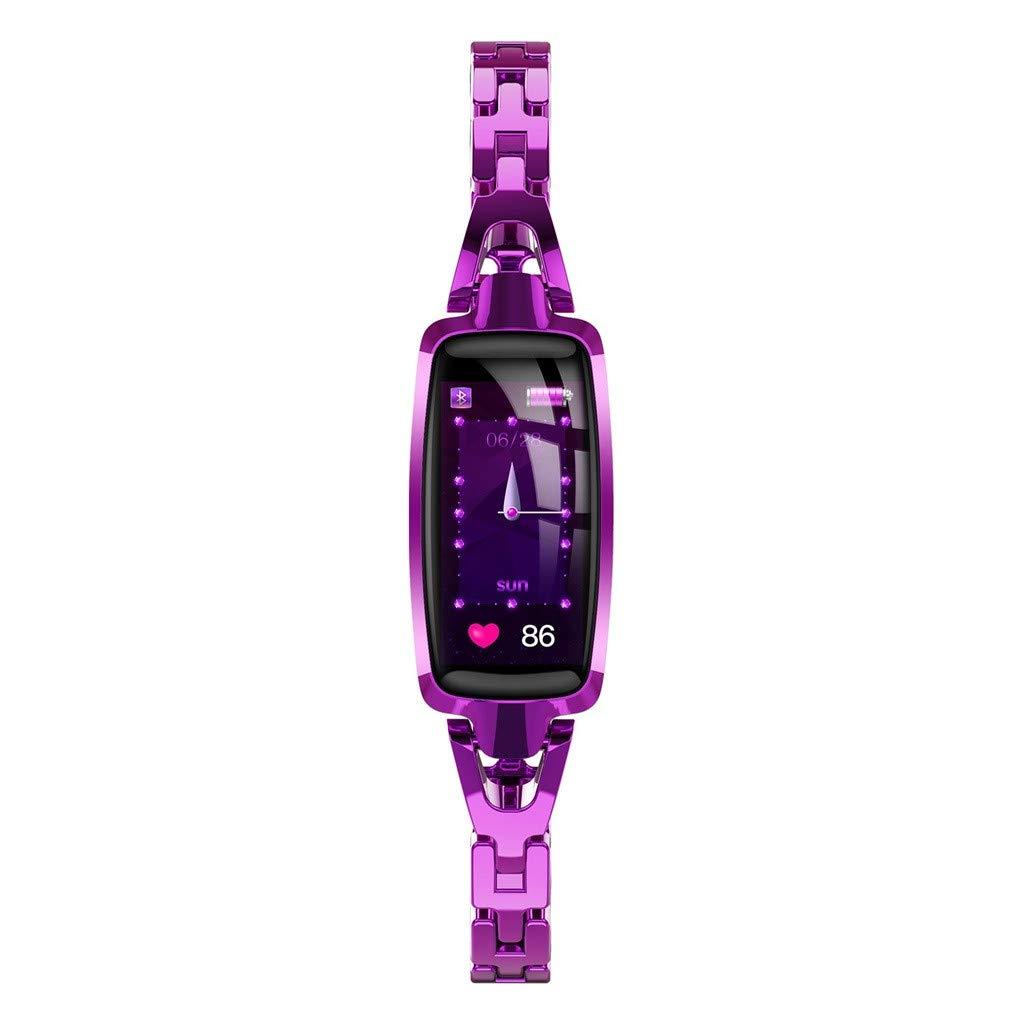 Mbtaua-Watch Dr66 Women Waterproof Smart Watch Wrist Watch Calorie Fitness Tracker Multisport Smartwatch Bracelet Purple