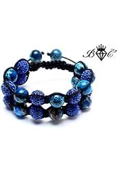 Poseidon Double Shamballa Bracelet | Hip Hop Jewelry | Crystal Disco Ball Bangle (By BAGATI CRYSTO)