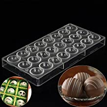 Grainrain Polycarbonate Chocolate Mold Clear Mold DIY Handmade Pastry Tools Semi Sphere Shaped