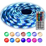 LEN Led Strip Lights 16.4 Feet Waterproof 150LEDs 5050 RGB Light Strip Complete Kit