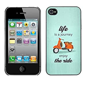 Design Hard ShellIs A Journey Scooter Travel For Ipod Touch 5 Case Cover
