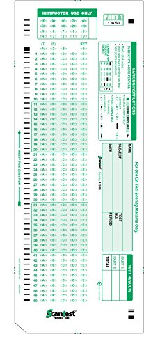 SCANTEST-100, 882 E Compatible Testing Forms (50 Sheet Pack)