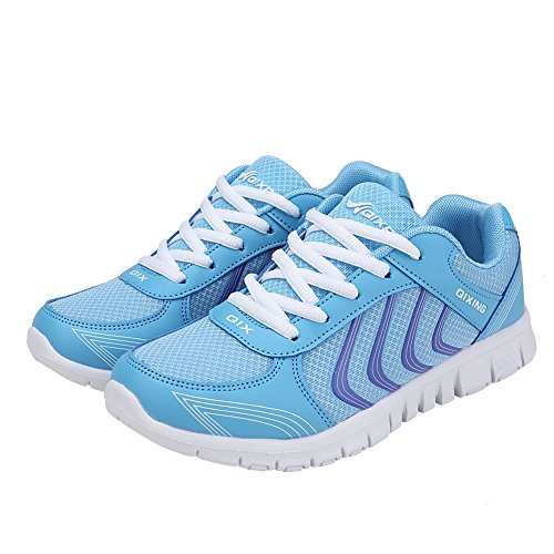Ponyka Women's Lightweight Athletic Walking Sneakers Breathable Tennis Road Running Shoes US4.5-10.5
